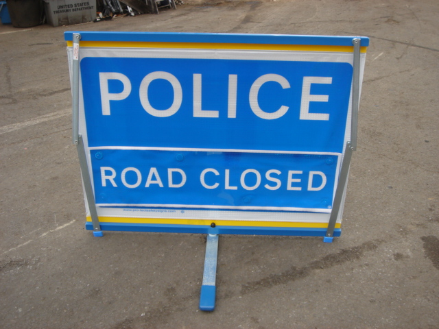 Police – Accident Signs - Police Roag Closed