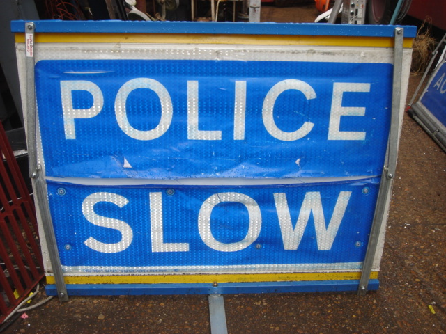 Police – Accident Signs - Police Sign 4a