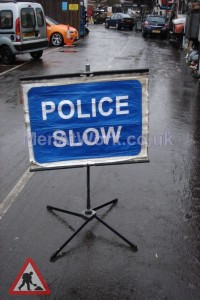 Police – Accident Signs - Police Sign Slow