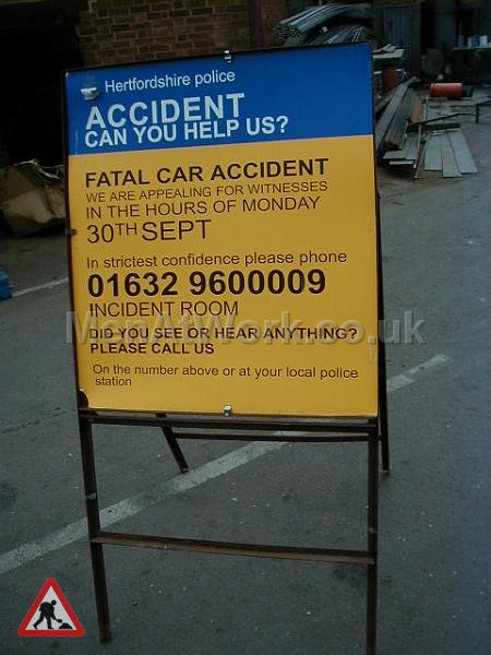 Police Incident Signs - Police sign 2b