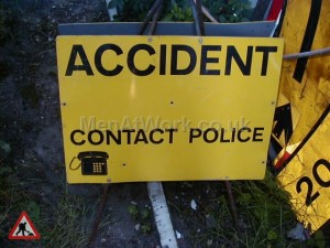 Police Accident Sign – Can you help - Police sign sandwich  style a