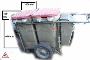 Red Double Bin Sweeper - ROAD SWEEPERS KART MEASUREMENTS copy