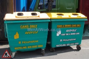 Recycling Bin – Food And Drinks Cans Only - Recycling Bin – Drinks and Paper (2)
