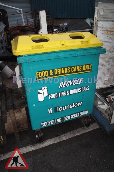Recycling Bin – Food And Drinks Cans Only - Recycling Bin – Drinks and Paper
