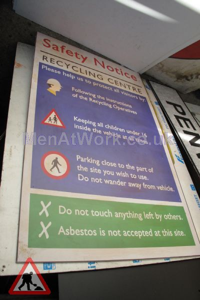 Recycling Center Signs - Recycling Centre Sign