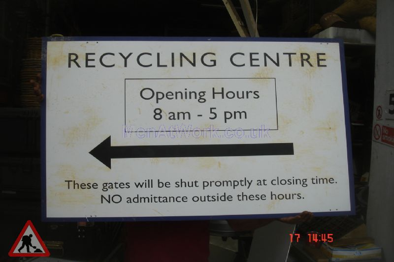 Recycling Centre Signs - Recycling Centre