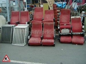 Train Seats - Red Covered Seats 2
