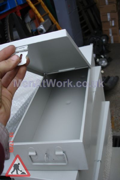 Safe Deposit Box – Grey - Safe Deposit Box – Open