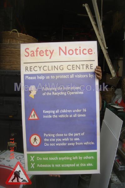 Recycling Centre Signs - Safety Notice