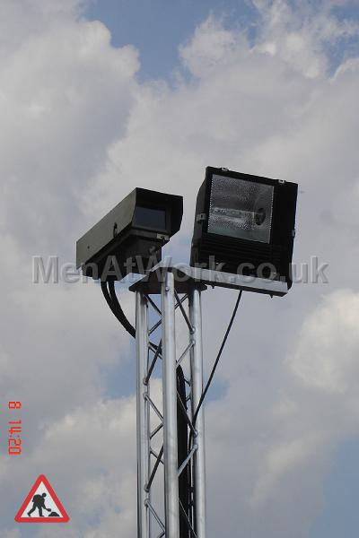 Security Camera on trilite frame - Security camera on trilite