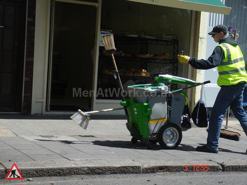 Single Road sweeping bin - Single Bin