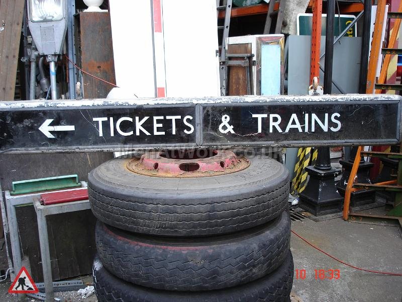 Train Station Sign - Tickets and Train  Sign
