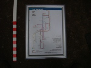 Train Route Sign - Train Route Sign
