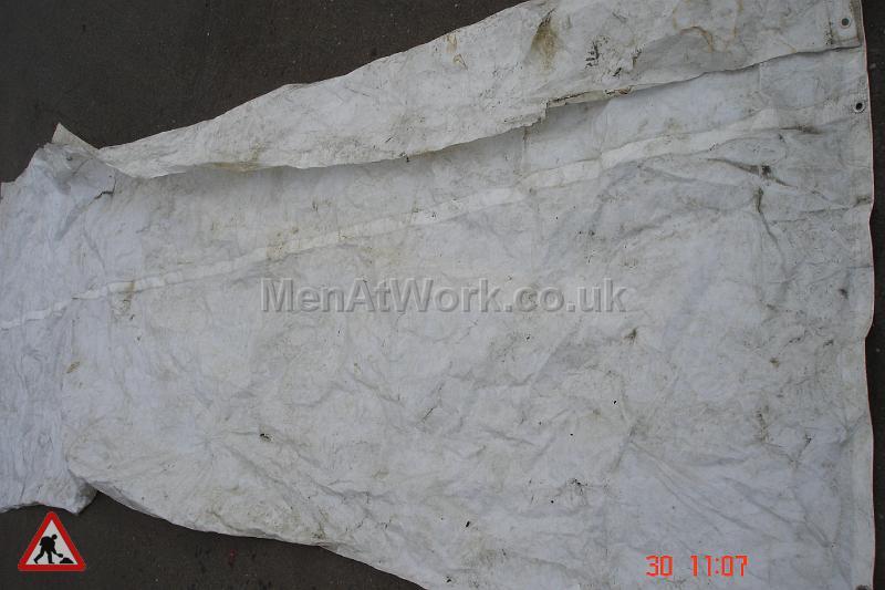 White Tarpaulin - White 6ft x 16ft