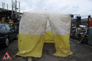 Workmans Tent - Workmans Tent Yellow and White (3)