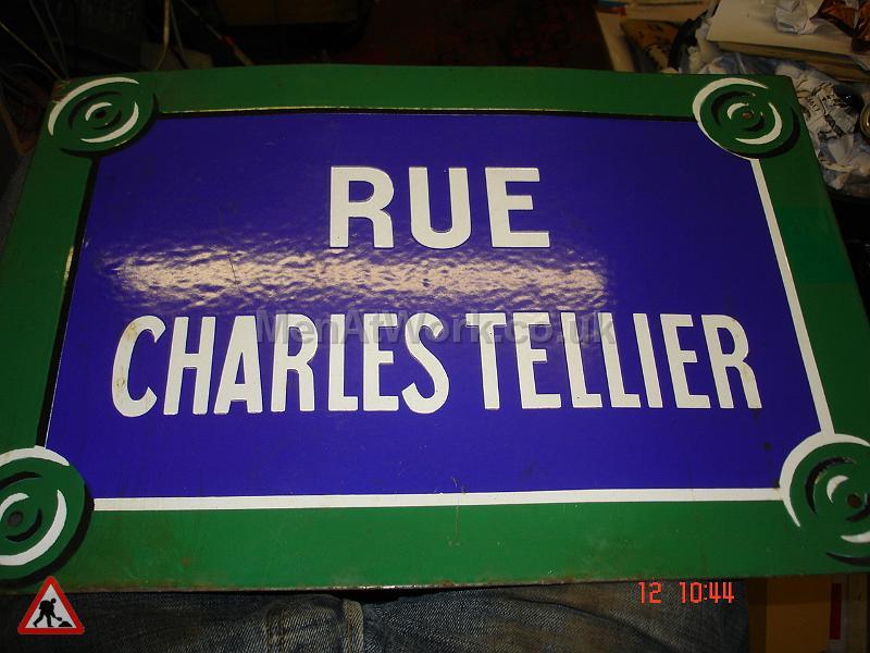 Street Name Signs – Various - rue charles tellier