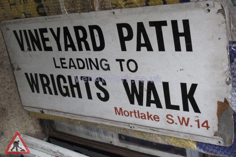 Street Name Signs – Various - vineyard path leading to wrights walk