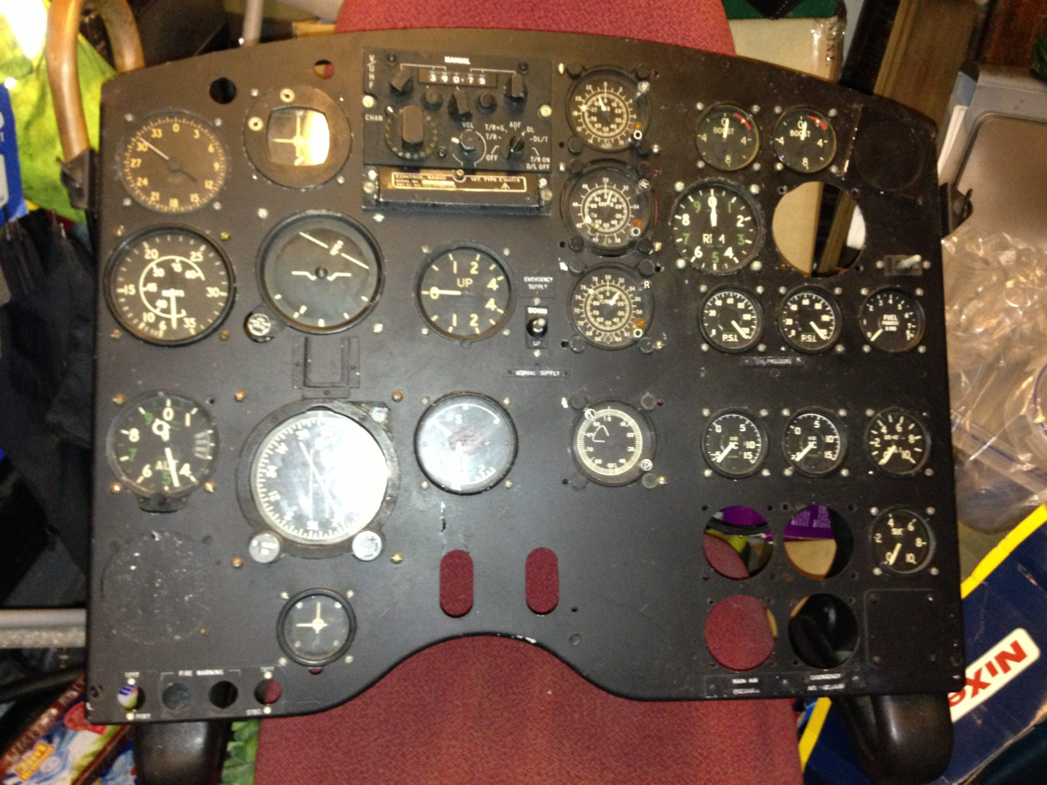 Aircraft Props - Cockpit Panel With Gauges
