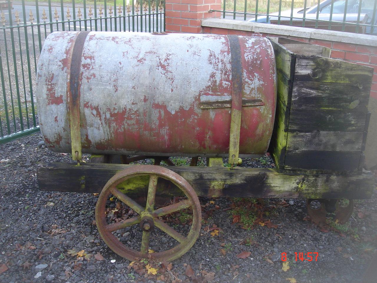 Oil Barrel - Oil Drum On Wheels