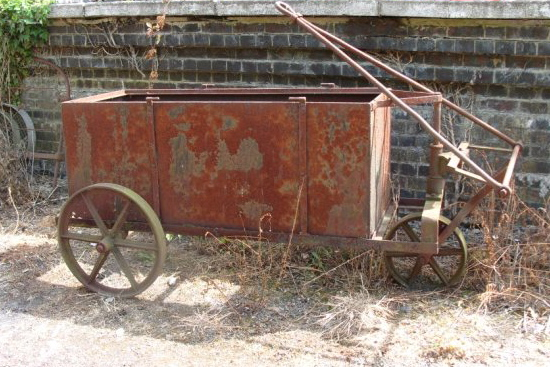 Hand Cart With Iron Wheels - Hand Cart