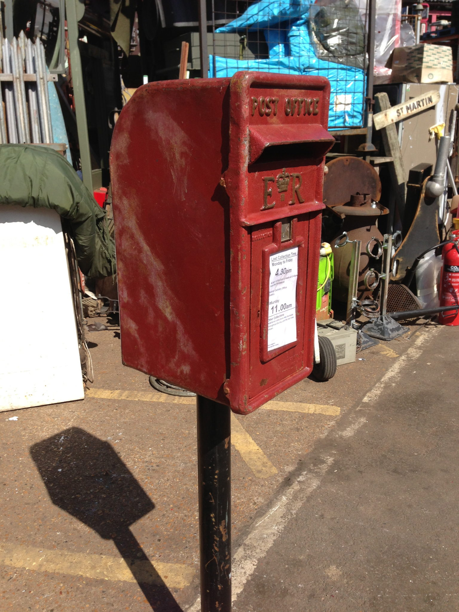 Post Mounted Post Box - Country Letter Box