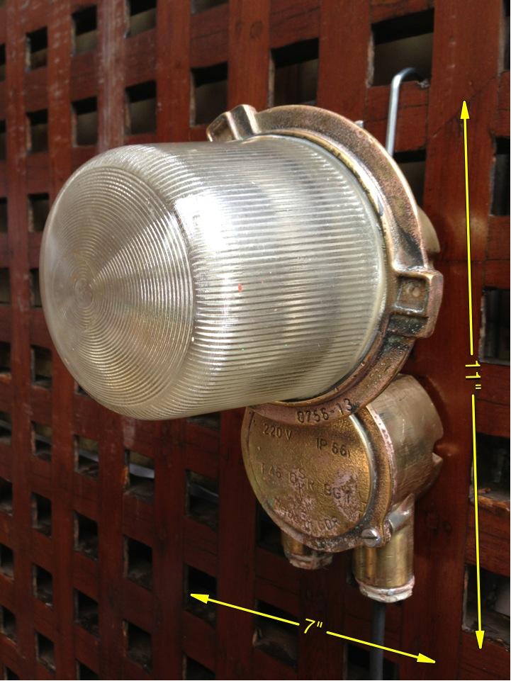 Bulkhead or Ceiling Light in Brass 20 Available - Brass Bulkhead Lamp