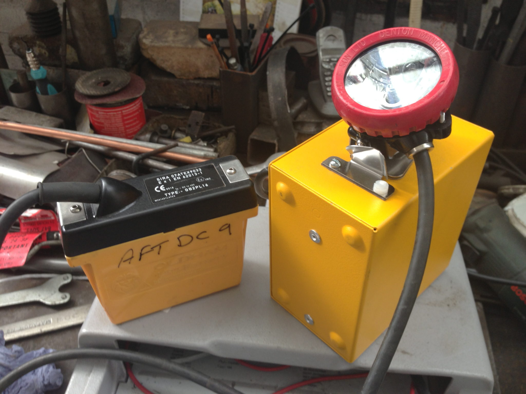 Miner Lamp 12 Available and Charger - Miners Helmit Lamp