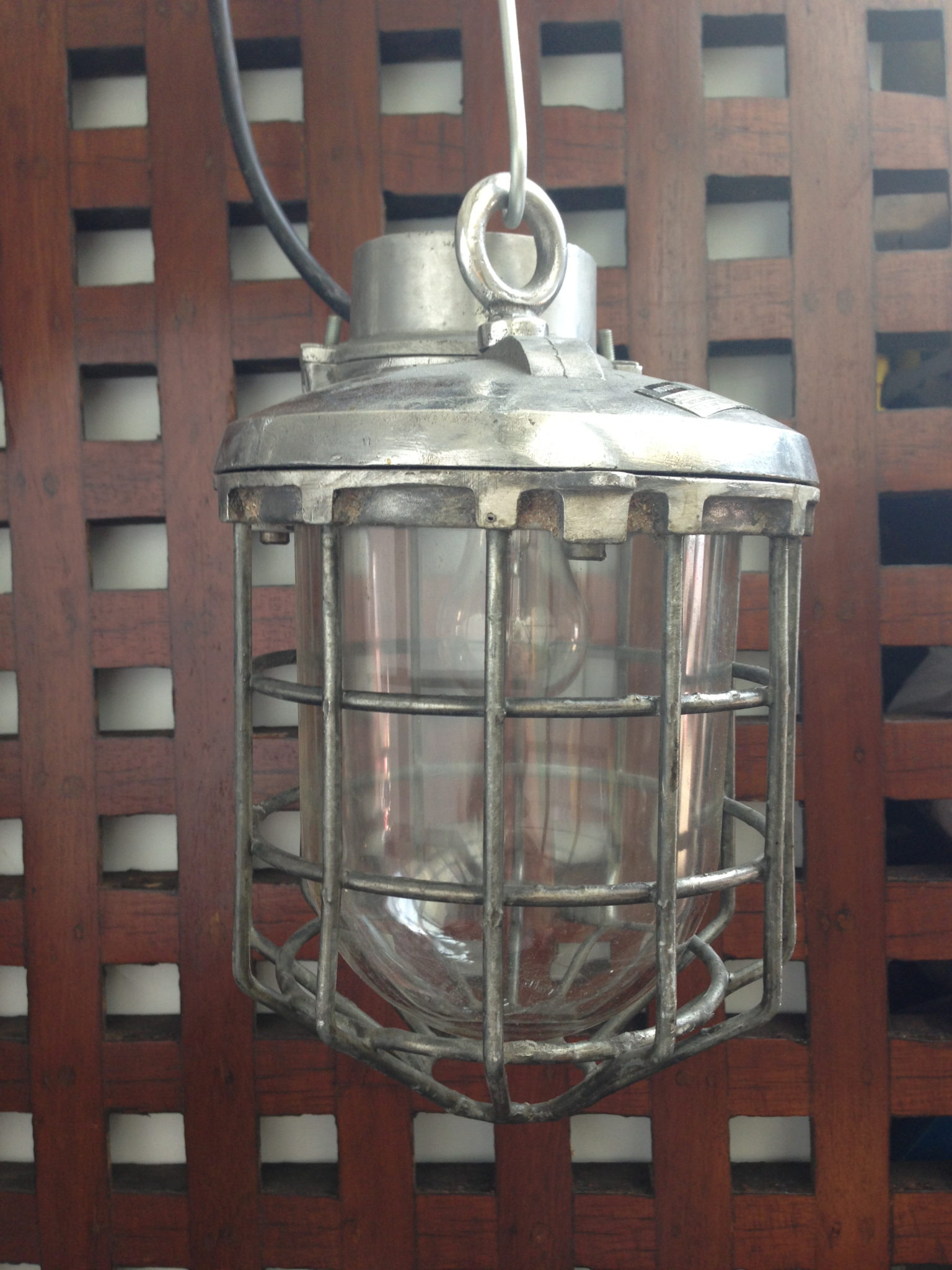 Caged Pendant Light 12ins drop x 8ins across - IMG_4507