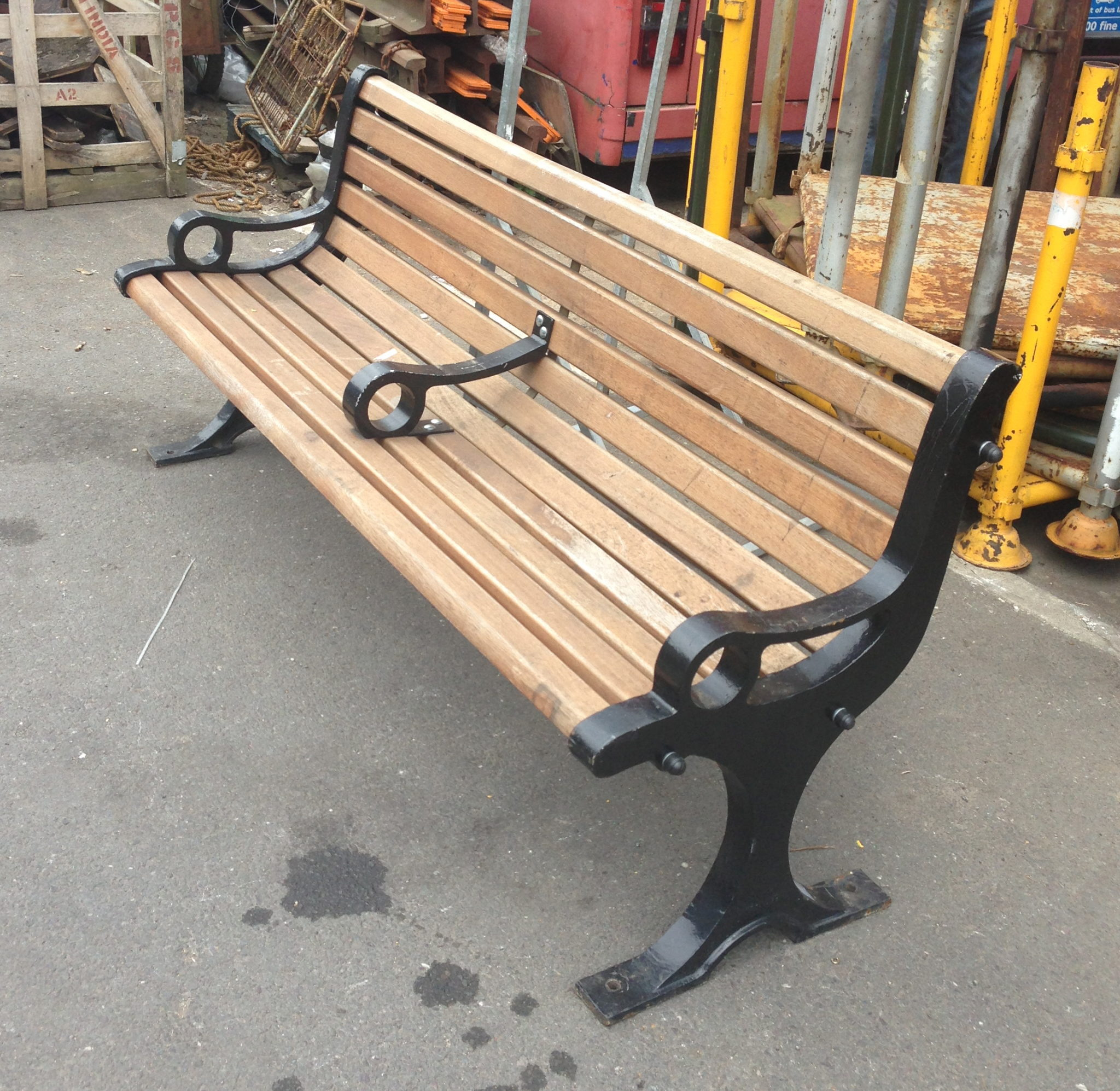 Slatted Bench With Ring Arms - IMG_4548