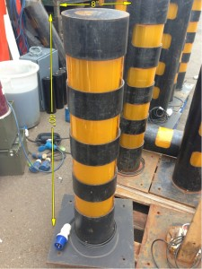Illuminated Bollard 20 Available 40ins high 8ins across - Bollard