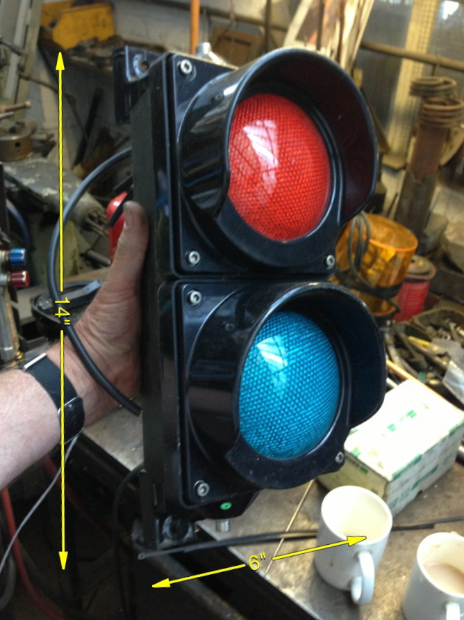 Red Green Light 14ins x 6ins 15 Available - Control Signal