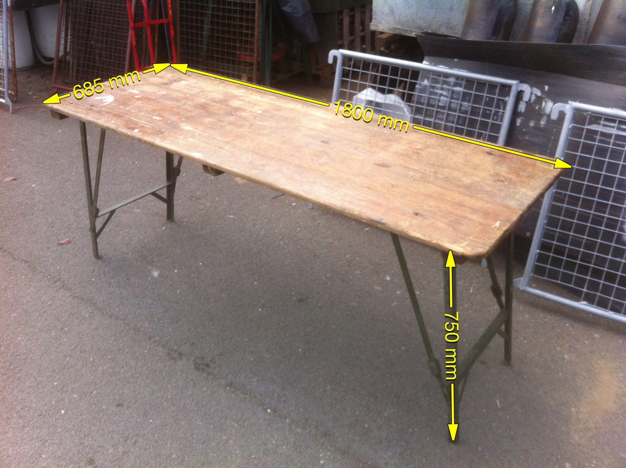 Trestle Table 20 available - Table