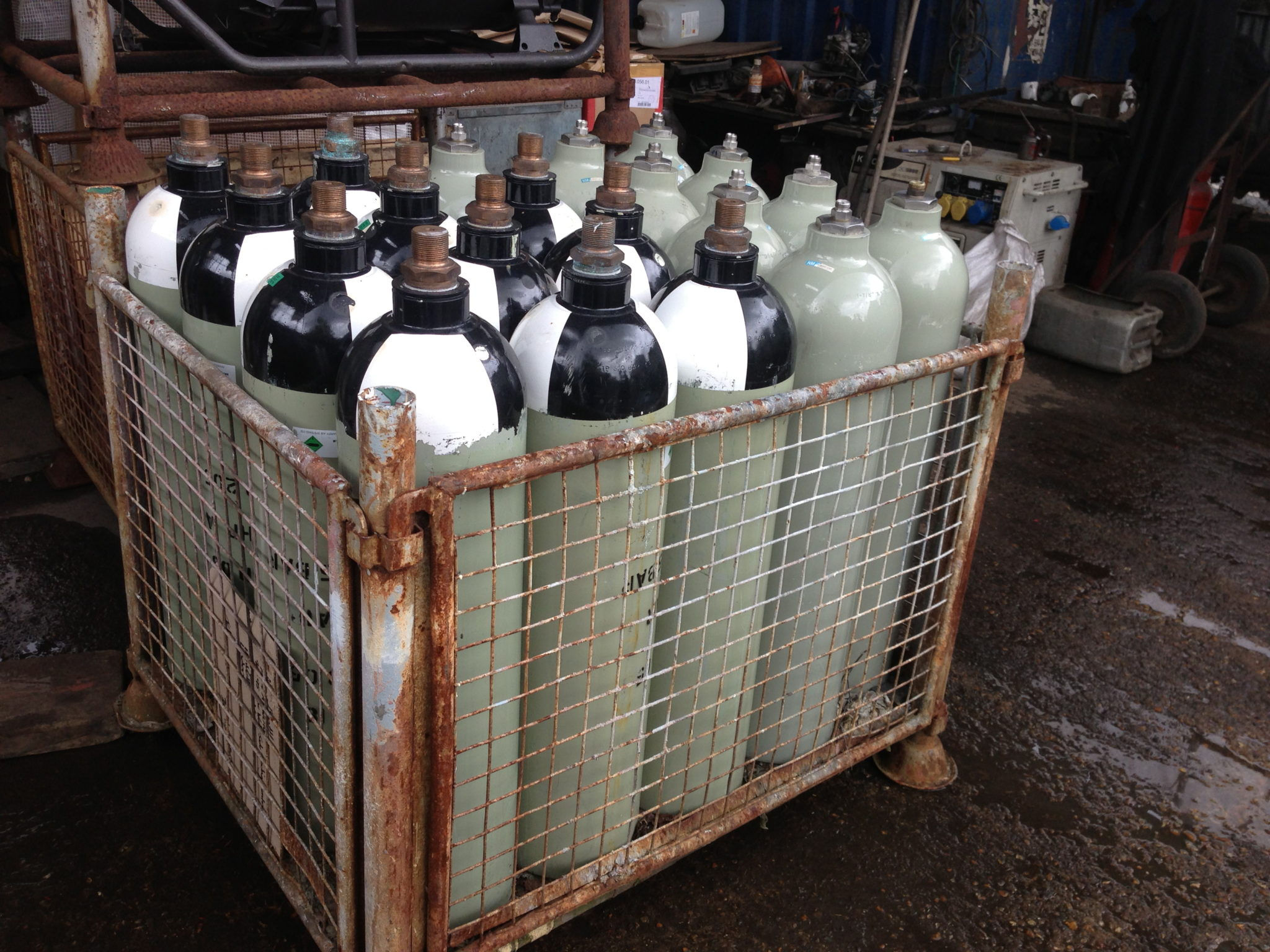 Oxygen Bottles 20 Available - Brass Pendant Lights