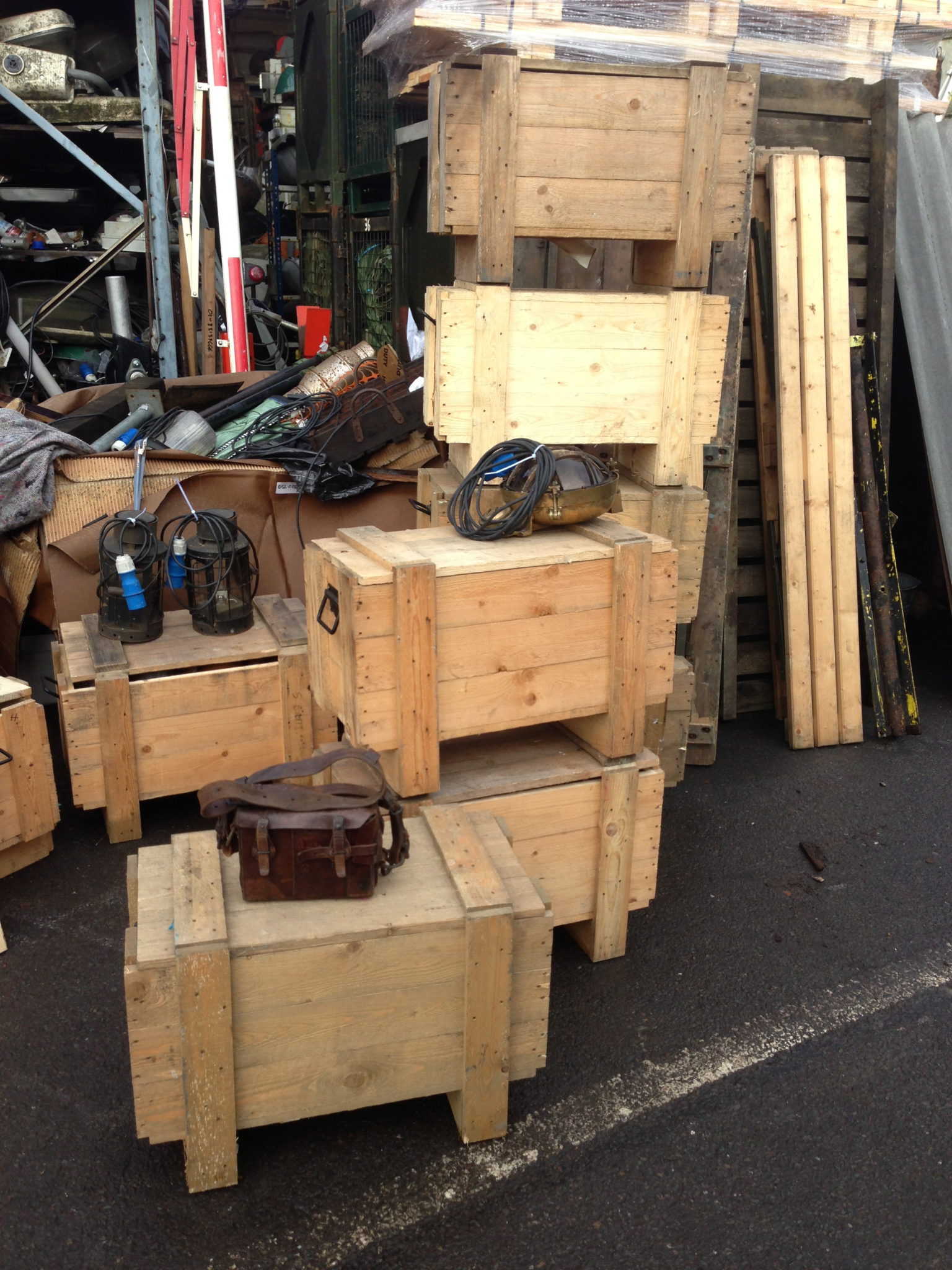 Wooden Crates 9 Available 18″ x 27″ x 15″ - IMG_3515