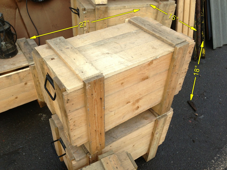 Wooden Crates 9 Available 18″ x 27″ x 15″ - IMG_3517