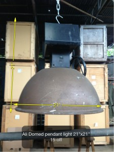 (11) Ali Domed Pendant Light 21″ x 21″ 18 Available - Ali Domed Light