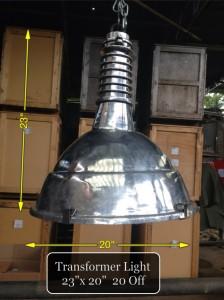(1) Transformer Ali Pendant Light 23″ x 20″  20 available - Transformer Light