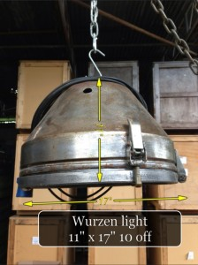 (12) Wurzen Pendant Light 11″ x 17″  10 Available - Wurzen Industrial Light