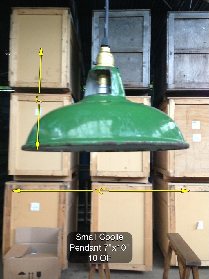 (26) Small Coolie Pendant 7″ x 10″ 10 Available - Coolie Light