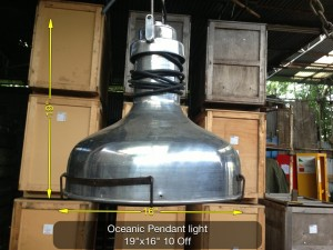 (14) Oceanic Pendant Light 19″ x 6″ 10 Available - Oceanic Light