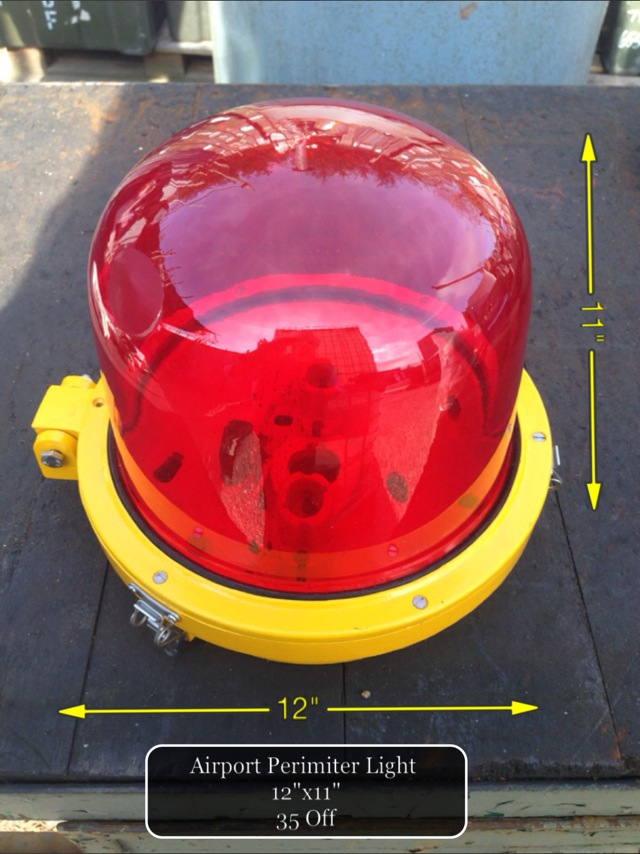 (37) Airport Perimeter Light 12″ x 11″  35 Available - Airport Warning Light