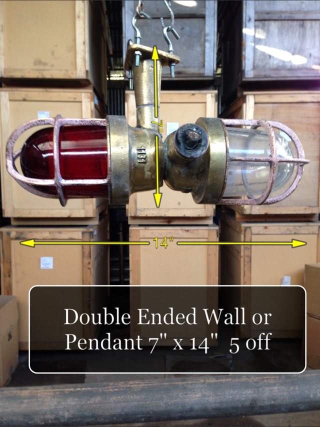 (25) Double Ended Wall/Pendant 7″ x 14″ 5 Available - Double Ended Light
