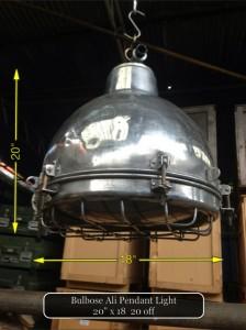 (17) Bulbose Ali Pendant Light 20″ x 18″  20 Available - Bulbose Ali Light