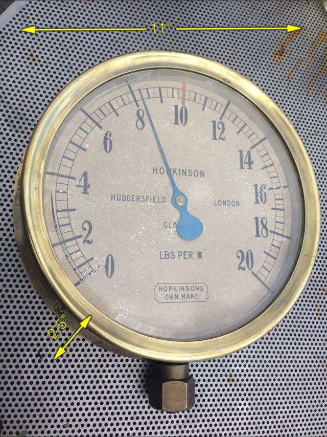 12″ Steam Gauge 3 Available -