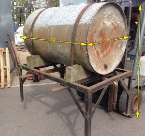 Riveted Tank and Stand -