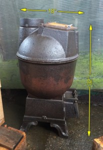 Pot Belly Stove 18″ x 32″ with Flue -