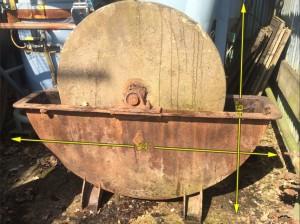 Sandstone Grinder in Cast Iron Frame 54″ x 46″ -