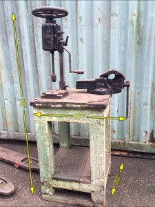 Workbench with Drill & Vice -