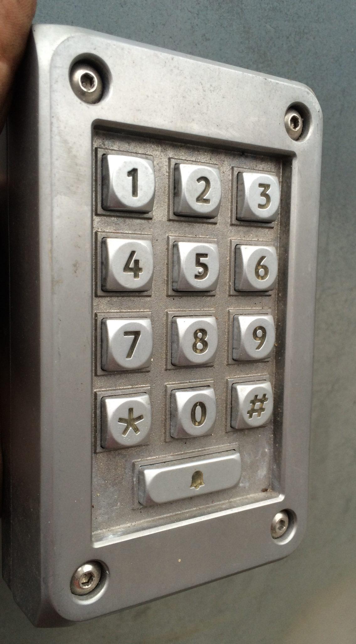 Push Button Entry Keypad - I