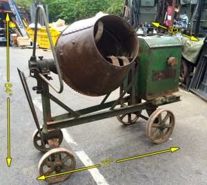 Cement Mixer Period 1940's -